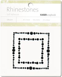 Kaisercraft Self-Adhesive Rhinestones - Square Border-Black