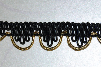 "1"" Black and Gold"