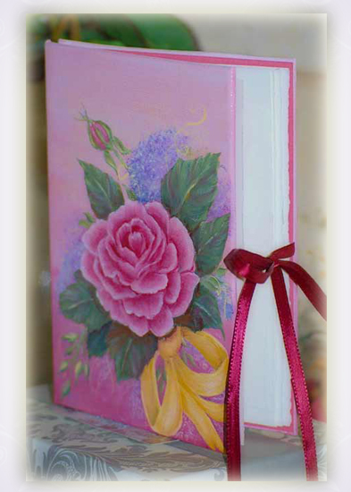 Painted Nostalgic Rose Book