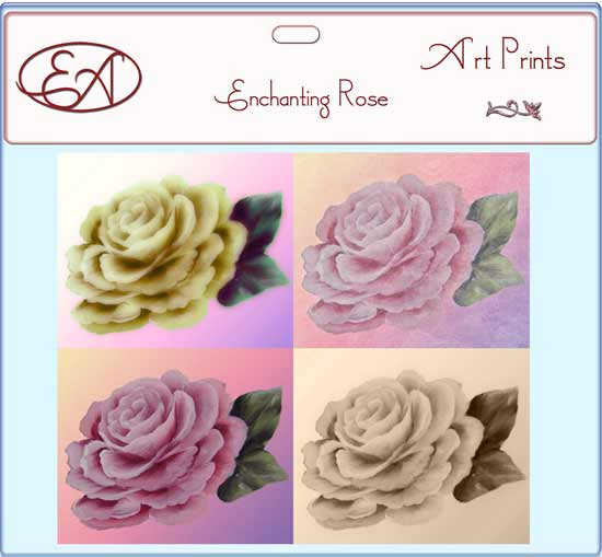 Enchanting Rose Prints