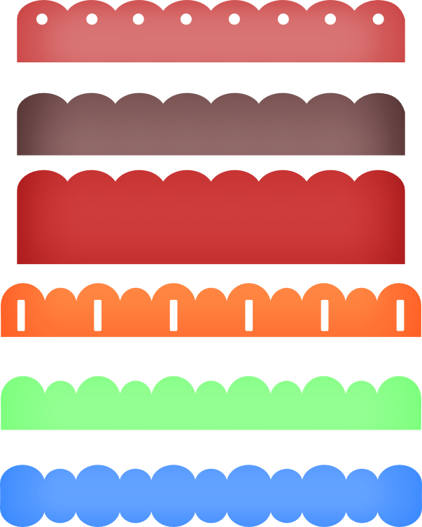 Scalloped Frame Vector