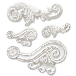 Melissa Frances Scroll Resin Embellishment