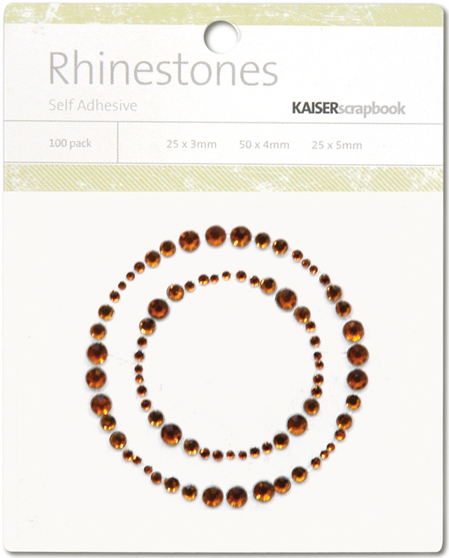 Kaisercraft Self-Adhesive Rhinestones - Circle Border-Copper