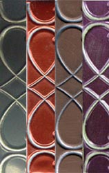 "Metal Sheets 9""X12"" 40g Multi-Pack Slate/Mocha/Spiced Rum/Plum"