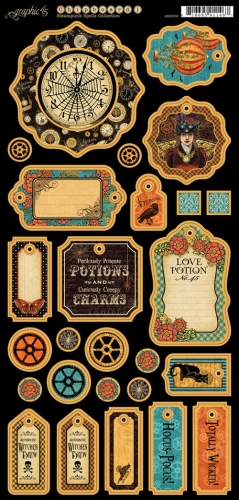 Graphic 45 Steampunk Spells Chipboard Die-Cuts # 1