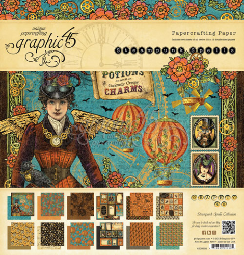 Graphic 45 Steampunk Spells Paper Pad 12x12