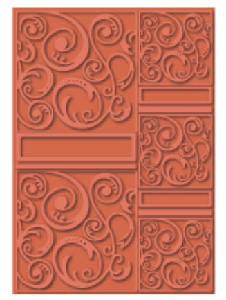 Swirltangle - A4 Size eBosser Embossing Folder
