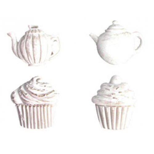 Melissa Frances Tea Time Applique Resin Embellishments