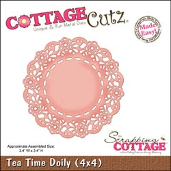 CottageCutz Die Tea Time Doily Made Easy
