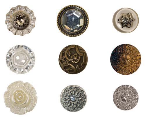 Idea-Ology Accoutrements 9/Pkg Fanciful Buttons