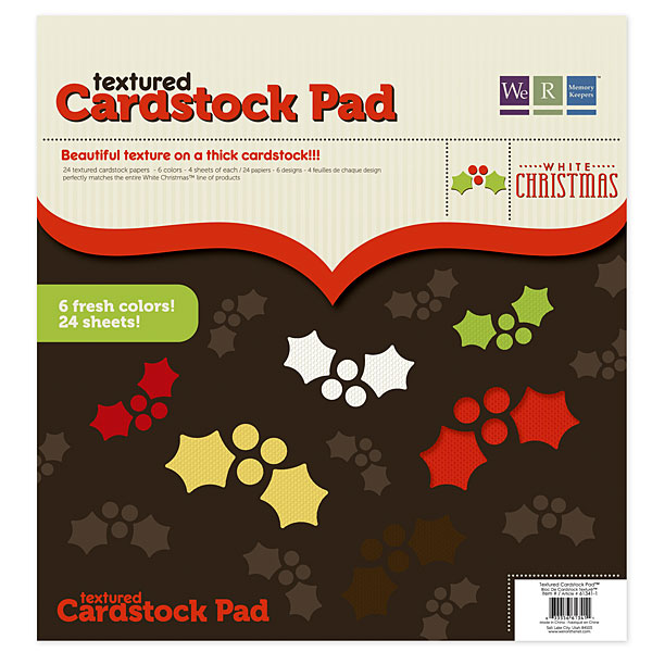 White Christmas 12x12 Textrd Crdstck Pad