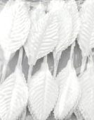 "Darice Single Satin Leaf 2"" White"