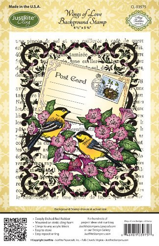 Justrite Stampers Cling Background Stamp: Wings Of Love