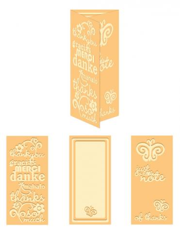 World of Thanks- A4 Size eBosser Embossing Folder