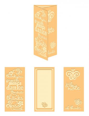 World of Thanks- Letter Size eBosser Embossing Folder