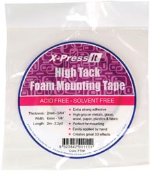 "X-Press It High Tack Foam Tape 1/4""X 2.2 Yards"