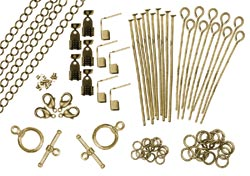 Revolution Assorted Metal Findings 173/Pkg Antique Gold