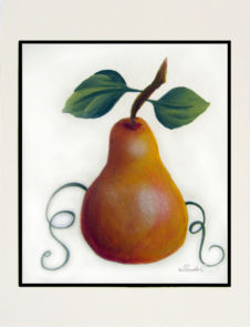 Sweet Pear Hand-Painted Card