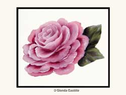 Vibrant Rose Greeting Card