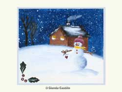 Winter Wonderland Hand-Painted Card