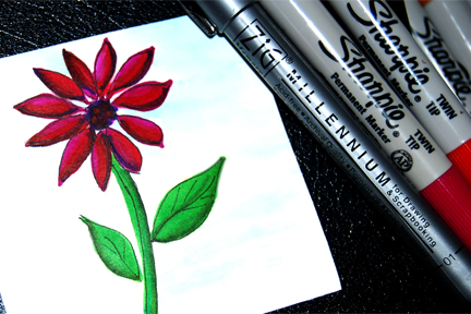 Coloring With Sharpies Enchant Art